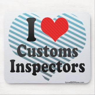 I Love Customs Inspectors Mouse Pad