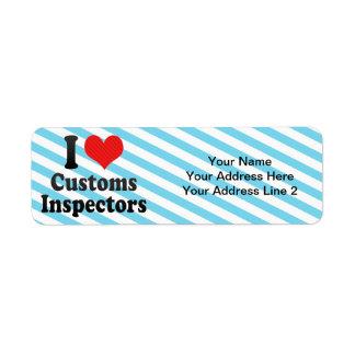 I Love Customs Inspectors Return Address Label