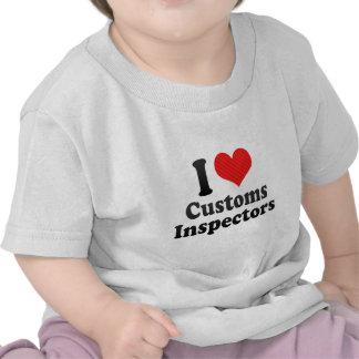 I Love Customs Inspectors T Shirts