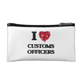 I love Customs Officers Cosmetic Bags