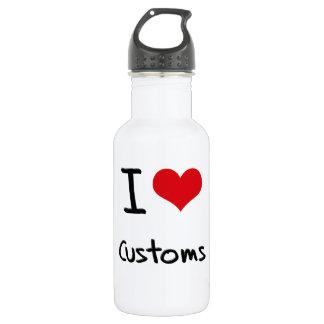 I love Customs 18oz Water Bottle