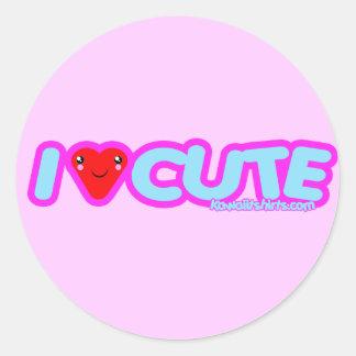 I love Cute Kawaii t-shirts & more Classic Round Sticker