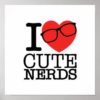 I Love Cute Nerds Poster