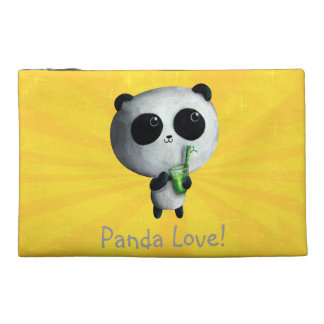 I love Cute Pandas Travel Accessories Bag