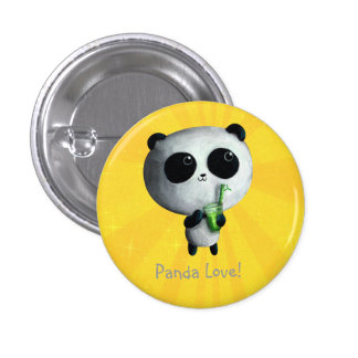I love Cute Pandas Pinback Buttons