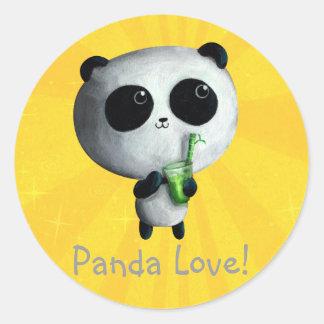 I love Cute Pandas Classic Round Sticker