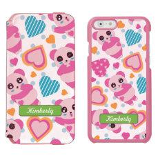 I Love Cute Pandas iPhone 6/6s Wallet Case