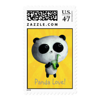 I love Cute Pandas Postage
