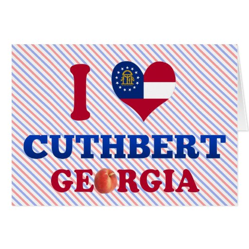 I Love Cuthbert, Georgia Greeting Card