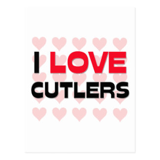 I LOVE CUTLERS POSTCARD