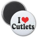 I Love Cutlets Fridge Magnets