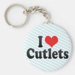 I Love Cutlets Keychain