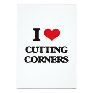 I love Cutting Corners 3.5x5 Paper Invitation Card