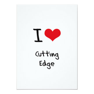 I love Cutting Edge 5x7 Paper Invitation Card
