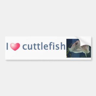 I Love Cuttlefish Bumper Sticker