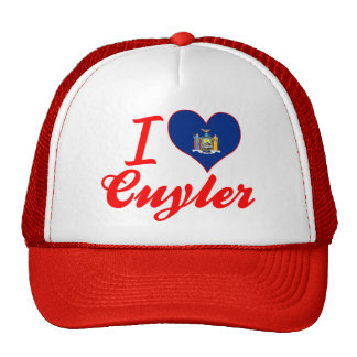 I Love Cuyler, New York Mesh Hats
