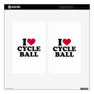 I love Cycle ball Skins For Kindle Fire