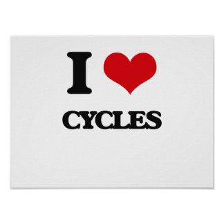 I love Cycles Print