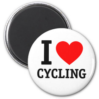 I Love Cycling 2 Inch Round Magnet
