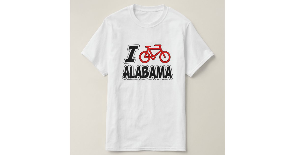 I love cycling alabama t shirt zazzle for T shirt printing mobile al