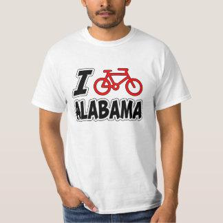 I Love Cycling Alabama Tee Shirt