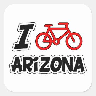 I Love Cycling Arizona Square Sticker