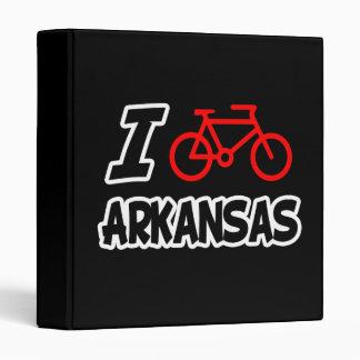 I Love Cycling Arkansas Binders