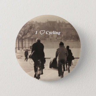 I love cycling badge button
