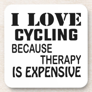 I Love Cycling Drink Beverage Coasters Zazzle