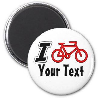 I Love Cycling Blank 2 Inch Round Magnet