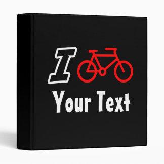 I Love Cycling Blank Binder