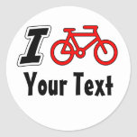 I Love Cycling Blank Round Stickers