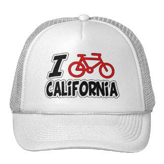I Love Cycling California Mesh Hats