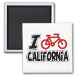 I Love Cycling California Refrigerator Magnets