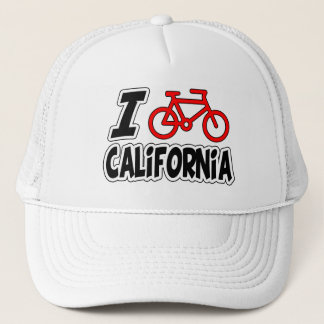 I Love Cycling California Trucker Hat