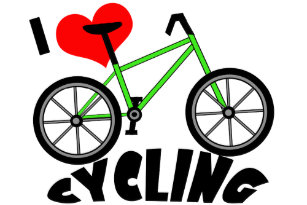 I Love Cycling Stickers Zazzle