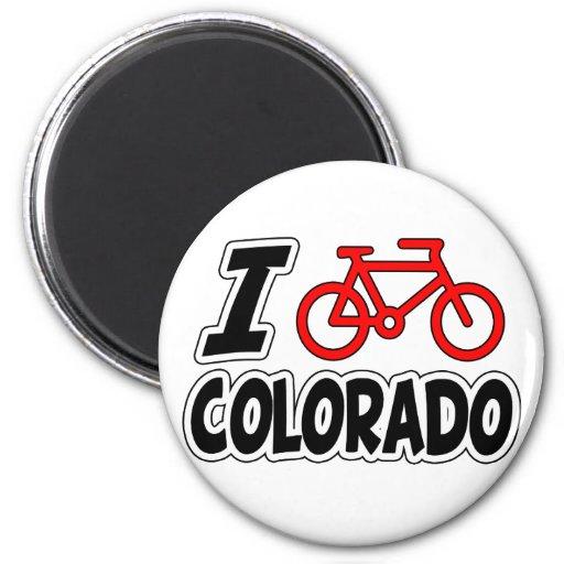 I Love Cycling Colorado Fridge Magnet