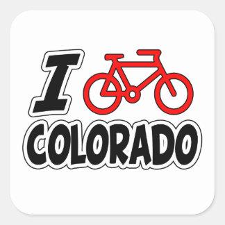 I Love Cycling Colorado Stickers