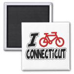 I Love Cycling Connecticut Fridge Magnets