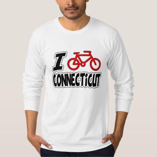 I Love Cycling Connecticut T Shirts