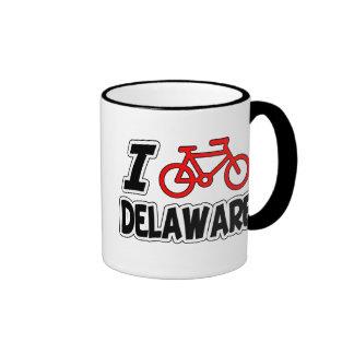 I Love Cycling Delaware Mug