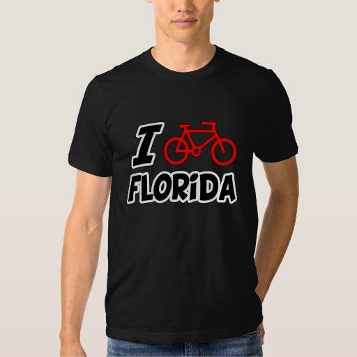 I Love Cycling Florida Tee Shirt