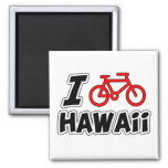 I Love Cycling Hawaii Magnets
