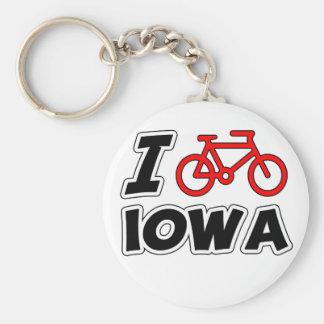 I Love Cycling Iowa Keychain