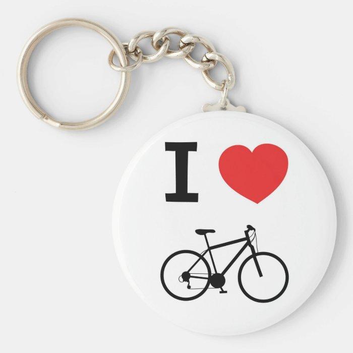 I love Cycling Keychain