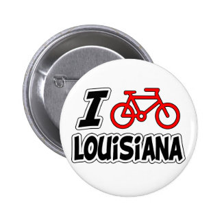 I Love Cycling Louisiana Button