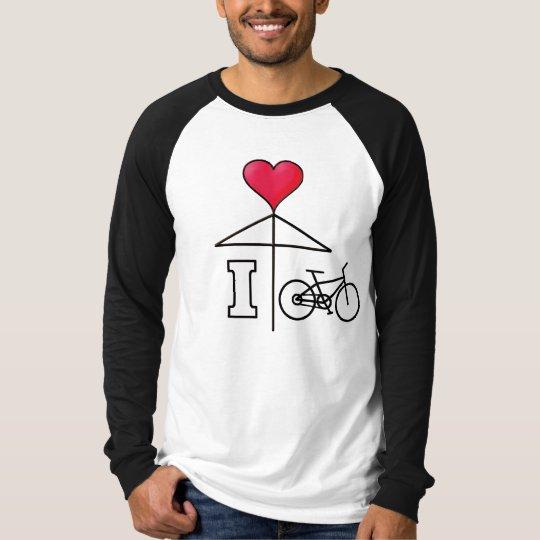 I love Cycling/Love Umbrella/Mistletoe2 Black Line T-Shirt