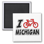 I Love Cycling Michigan Refrigerator Magnets