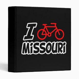 I Love Cycling Missouri 3 Ring Binder