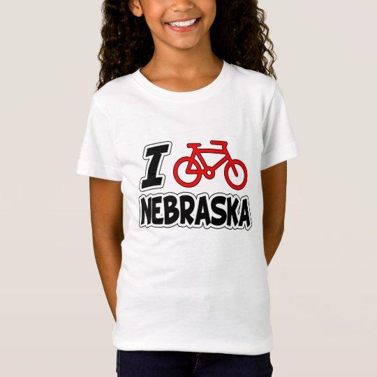 I Love Cycling Nebraska T-Shirt